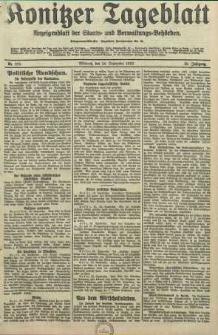 Konitzer Tageblatt.Amtliches Publikations=Organ, nr223