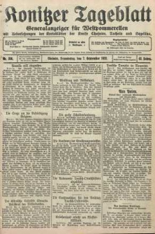 Konitzer Tageblatt.Amtliches Publikations=Organ, nr206