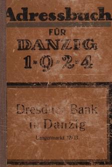 Adreßbuch für Danzig und Vororte 1924