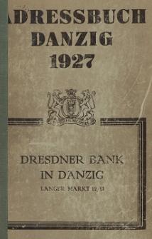 Adreßbuch für Danzig und Vororte 1927