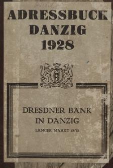 Adreßbuch für Danzig und Vororte 1928