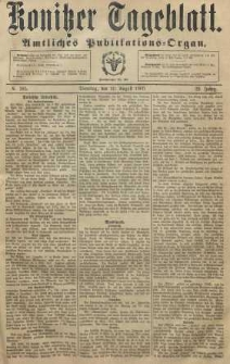 Konitzer Tageblatt.Amtliches Publikations=Organ, nr185