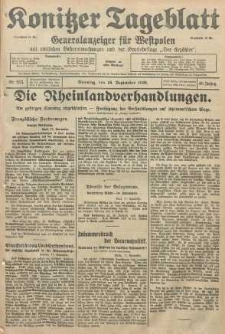 Konitzer Tageblatt.Amtliches Publikations=Organ, nr215