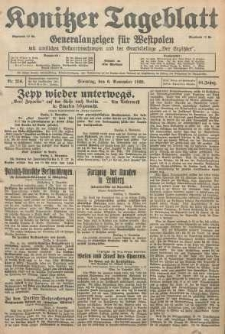Konitzer Tageblatt.Amtliches Publikations=Organ, nr256