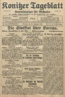 Konitzer Tageblatt.Amtliches Publikations=Organ, nr274