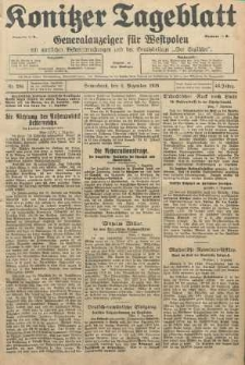 Konitzer Tageblatt.Amtliches Publikations=Organ, nr284