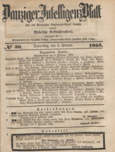 Danziger Intelligenz Blatt für den Königlichen Regierungs-Bezirk Danzig, 1863.12.29 nr 303
