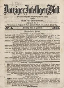 Danziger Intelligenz Blatt für den Königlichen Regierungs-Bezirk Danzig, 1865.01.24 nr 20