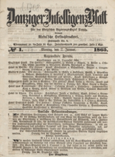 Danziger Intelligenz Blatt für den Königlichen Regierungs-Bezirk Danzig, 1865.02.10 nr 35