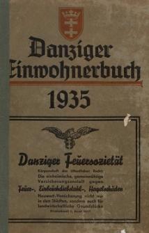 Danziger Einwohnerbuch : mit allen eingemeindeten Vororten und Zoppot 1935