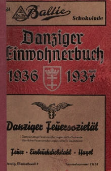 Danziger Einwohnerbuch : mit allen eingemeindeten Vororten und Zoppot 1936-1937