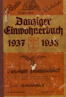 Danziger Einwohnerbuch : mit allen eingemeindeten Vororten und Zoppot 1937-1938