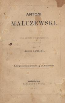 Antoni Malczewski : obraz liryczny w pięciu ustępach