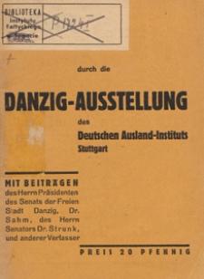 Führer durch die Danzig-Ausstellung des Deutschen Ausland-Instituts Stuttgart