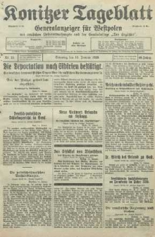 Konitzer Tageblatt.Amtliches Publikations=Organ, nr12
