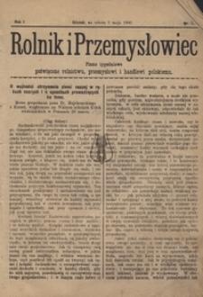 Rolnik i Przemysłowiec, nr9, 1900