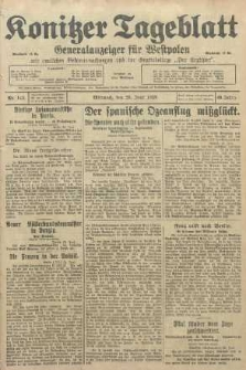 Konitzer Tageblatt.Amtliches Publikations=Organ, nr145