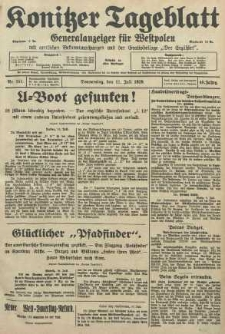 Konitzer Tageblatt.Amtliches Publikations=Organ, nr157