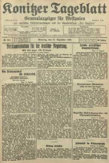 Konitzer Tageblatt.Amtliches Publikations=Organ, nr291