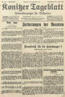 Konitzer Tageblatt.Amtliches Publikations=Organ, nr151