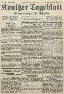 Konitzer Tageblatt.Amtliches Publikations=Organ, nr179