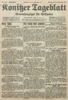 Konitzer Tageblatt.Amtliches Publikations=Organ, nr203