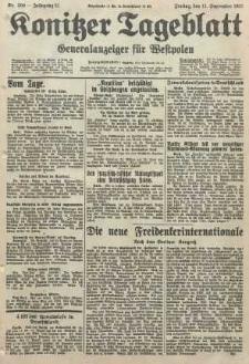 Konitzer Tageblatt.Amtliches Publikations=Organ, nr209