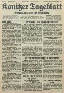 Konitzer Tageblatt.Amtliches Publikations=Organ, nr212