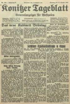 Konitzer Tageblatt.Amtliches Publikations=Organ, nr235