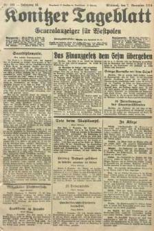 Konitzer Tageblatt.Amtliches Publikations=Organ, nr255
