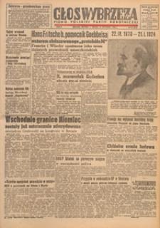 Głos Wybrzeża : pismo Polskiej Partii Robotniczej, 1948.03.27 nr 86