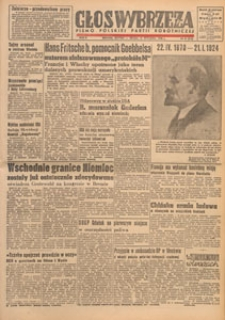 Głos Wybrzeża : pismo Polskiej Partii Robotniczej, 1948.08.17 nr 226