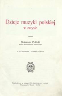Dzieje muzyki polskiej w zarysie