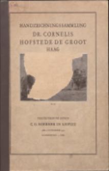 Handzeichnungs-Sammlung des im Haag verstorbenen Dr. C. Hofstede de Groot : niederländische Meister des XVII. Jahrhunderts : Originalzeichnungen Rembrandt