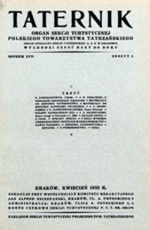 Taternik, 1933, nr 3