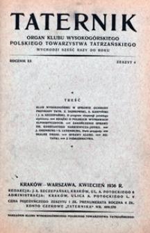 Taternik, 1935/36, nr 4