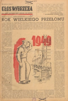 Głos Wybrzeża : organ Komitetu Wojewódzkiego Polskiej Zjednoczonej Partii Robotniczej, 1949.12.15 nr 345