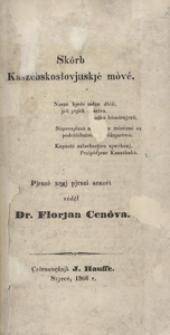 Skôrb Kaszébsko - słovjnskjé móvé, nr.5