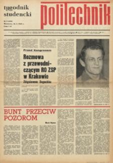 """Tygodnik studencki """"Politechnik"""", 1969, nr 3 (426)"""
