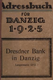 Adreßbuch für Danzig und Vororte 1925