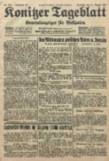 Konitzer Tageblatt.Amtliches Publikations=Organ, nr184