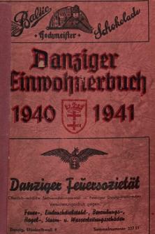 Danziger Einwohnerbuch : mit allen eingemeindeten Vororten und Zoppot 1940-1941
