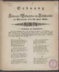 Ordnung des Johannis-Volksfestes im Jäschkenthale am Mittwoch, dem 23. Juni 1841