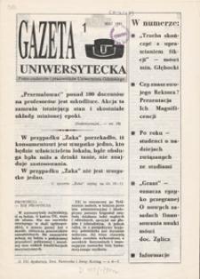Gazeta Uniwersytecka, 1991, nr 1 (1)