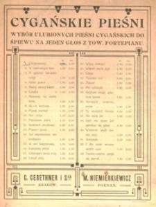 Chryzantemy : romans cygański : D-dur : [na baryton z tow. fortepianu] / słowa Zofii Bajkowskiej