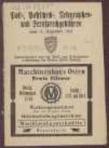 Post-, Postscheck-, Telegraphen- und Fernsprechgebühren : vom 15. Dezember 1922