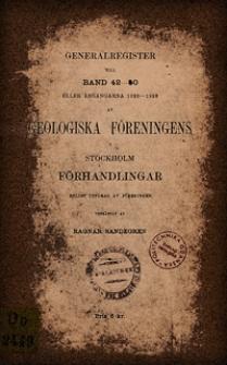 Generalregister till Bd. 42-50 (1930)