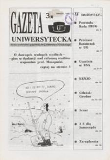 Gazeta Uniwersytecka, 1992, nr 3 (8)