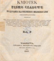 Kmiotek : pismo czasowe do czytania dla wiejskiego i miejskiego ludu przeznaczone, 1843.05.20 nr 20