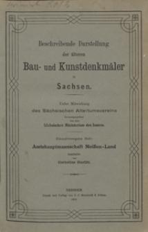 Beschreibende Darstellung der älteren Bau- und Kunstdenkmäler in Sachsen. H. 41. Amtshauptmannschaft Meißen-Land